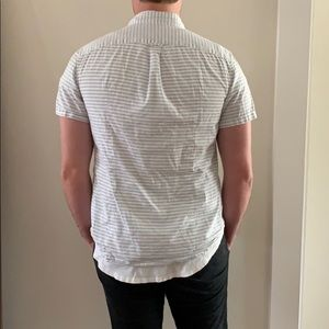 GAP Shirts - GAP Striped Short Sleeve Button Down Shirt